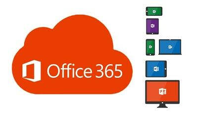 Microsoft Office 365 Multiplataforma 5 - Dispositivos + 5TB de One Drive