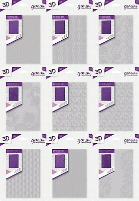 "NEW Crafters Companion Gemini - 3D Embossing Folders 5"" x 7"""