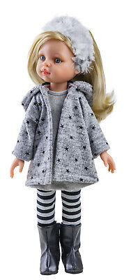 Brand New Paola Reina Doll Claudia 32cm blonde hair knit dress