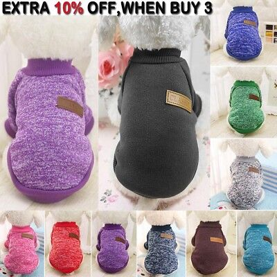 Knitted Puppy Dog Jumper Sweater Pet Clothes For Small Dogs Coat Various Styles√