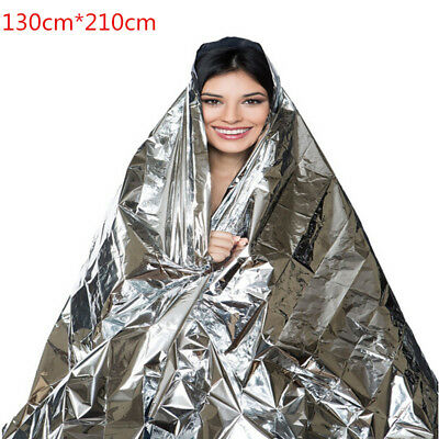 Emergency Blanket Thermal First Aid Survival Silver Foil Waterproof Rescue #ED
