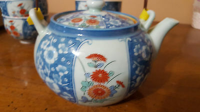 Beautiful Vintage Japanese Blue Tea Pot Set