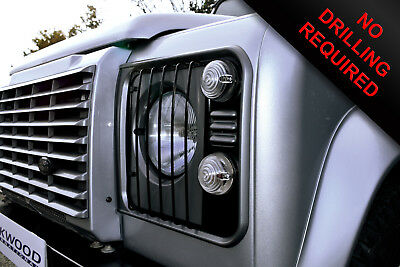 Land Rover Defender Head Light Head Lamp Grille Guards 1998 > (TD5, 2.4 & 2.2)