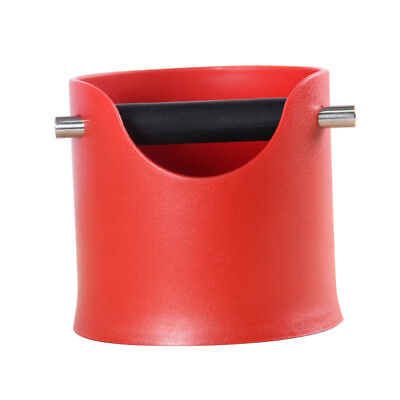 Baoblaze Coffee Knock Box Grinds Tamper Waste Bin for Coffee Ground Red