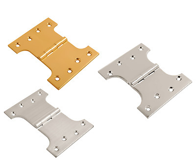 Projection Parliament Door Hinges 4 Inch, 5 Inch, 6 Inch Brass or Chrome (Pairs)