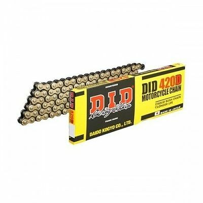 Chain-Did-420D G&b (Rj) X 132 Motorcycle Chain Gold And Black