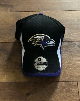 Baltimore Ravens New Era NFL Team Hashmark Hat 39Thirty Flex Fit Size M L 6a09ae353