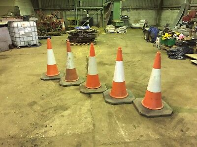 Traffic cones 1m high Big foot or similar groups of five