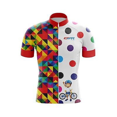 Kids Cycling Jersey Bicycle Sportswear Top Clothing Boys/Girls Bail jersey