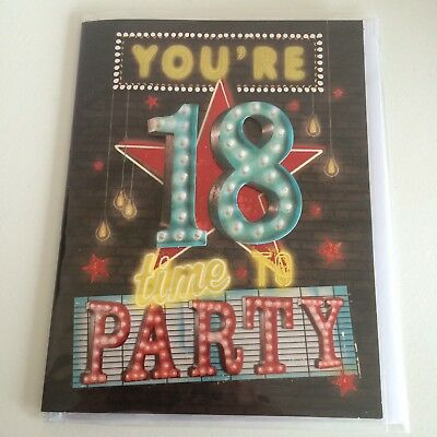 Clintons Age 18 18th Birthday Card FREE PP