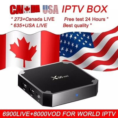 Android 7.1 Box Pro TV x96 Mini BOX WiFi 4K 2018 w/ Remote USA CANADA IPTV FREE