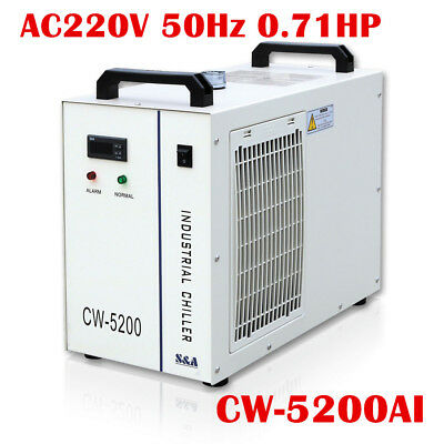 S&A CW-5200AI Industrial Water Chiller for a 50W Laser Diode 30W RF Laser Tube