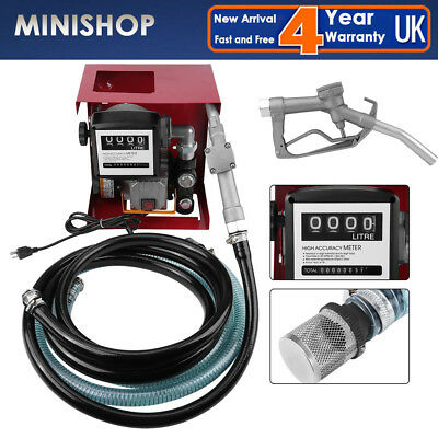 Electric Diesel Fuel Transfer Pump Self Priming Rotary 550W 110V Oil Extractor