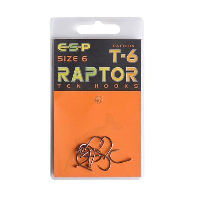 Esp Carp T-6 Hooks Various Sizes NEW but old stock fishing