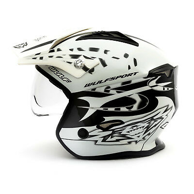 Wulfsport Adult Vista Helmet X-Large White Motocross Off Road Racing ATV Pitbike