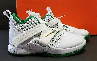 timeless design b80bb 35360 NIKE LEBRON SOLDIER XII (PS) AA1353-100 SVSM White Green Gold Little kids  SZ 12c