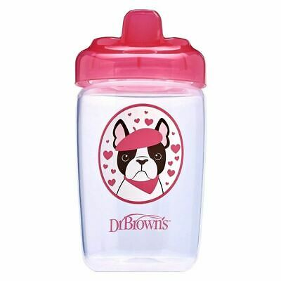 Dr Brown's Milestones Hard Spout Sippy Cup 350ml - Pink 1 2 3 6 12 Packs