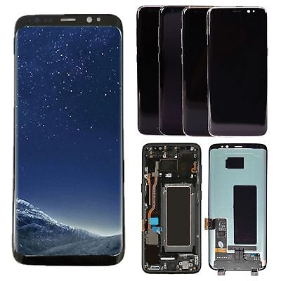 LCD Display Touch Screen Digitizer Assembly + Frame For Samsung Galaxy S8 G950