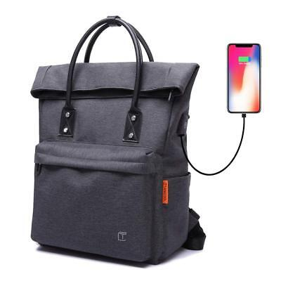 Tangcool Anti-theft Tote Backpack Convertible with USB Charging Waterproof  15""