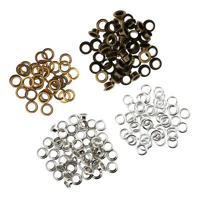 100 Set Occhielli in Metallo con Rondelle Accessori in Pelle da 11mm Misti
