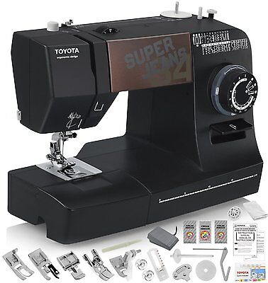 TOYOTA Super Jeans J34 Sewing Machine with 34 Built-In Stitches + FREE Shipping!