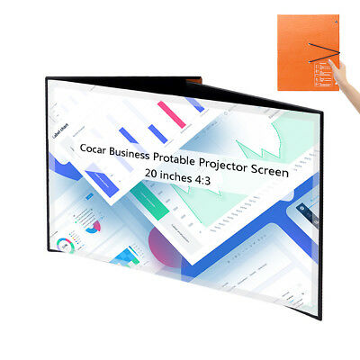 Portable Projector Screen 20 inch Desktop Foldable Mini Sized for Business Teach