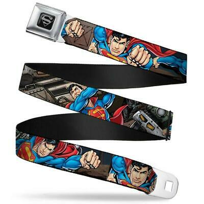 Buckle-Down Seat Belt Belt - Superman Metropolis