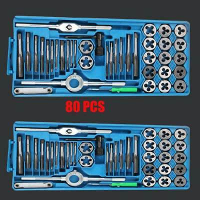 TAP AND DIE Set 80 piece METRIC w/Case Screw Extractor Remover Chasing NEW