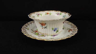 ATQ Mehun Fine China Delicate Floral Gold Rim Scalloped Edge