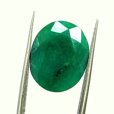 6.02 Ct Certified Natural Green Emerald Loose Oval Cut Gemstone Stone - 131222