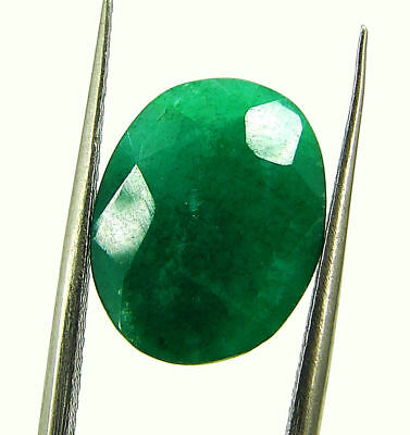 5.59 Ct Certified Natural Green Emerald Loose Oval Cut Gemstone Stone - 131234