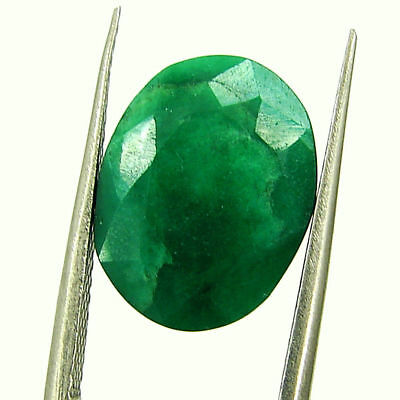 6.15 Ct Certified Natural Green Emerald Loose Oval Cut Gemstone Stone - 131225