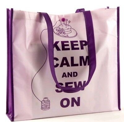 Keep Calm And Sew On - Sewing Themed Bag For Life - Reusable Shopping Tote Bag