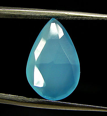 3.25 Ct Natural Blue Chalcedony Loose Faceted Gemstone Beautiful Stone - 10809