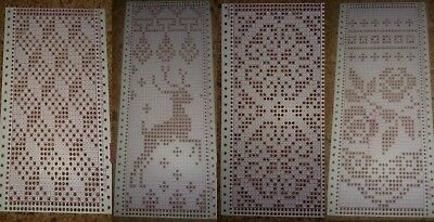 12 punch cards for knitting openwork on knitting machines Brother