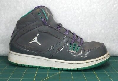 82af6dac007ac8 Nike Air Jordan 1 Flight Gray   Grape Basketball Shoe Sneakers~Kids Size 5Y