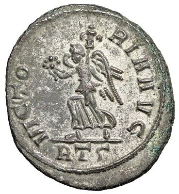 "Probus Silvered Antoninianus ""VICTORIA AVG Victory, Trophy"" Rome RIC 215 gVF"