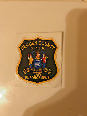 Bergen County New Jersey SPCA Law Enforcement Police Patch Decal