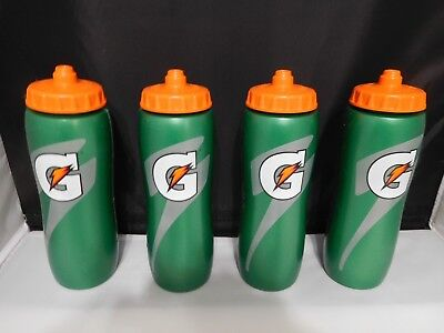 New Gatorade Squeeze Water Sports Bottle 32oz Pack of 4