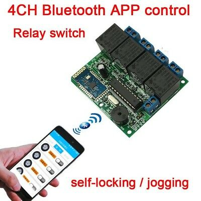 4CH 12V BLUETOOTH relay switch module phone APP wireless remote FOR