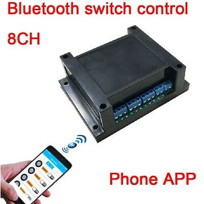 8CH DC 12V Bluetooth relay switch module phone APP wireless remote FOR Android