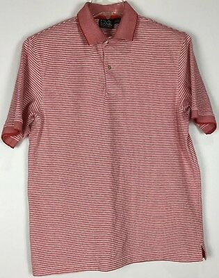 22496c582b Mens Jos A Bank Travelers Collection Polo Shirt Large Short Sleeve Striped