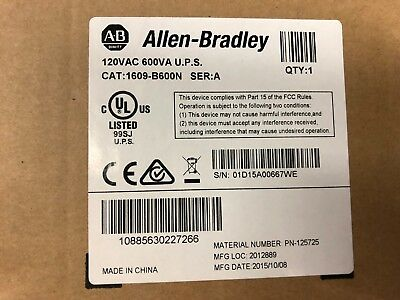 Allen Bradley 1609-B600N 120V 600VA UPS Series A New In Box
