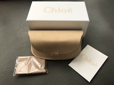 New Authentic Chloe Sunglasses Case and Cloth