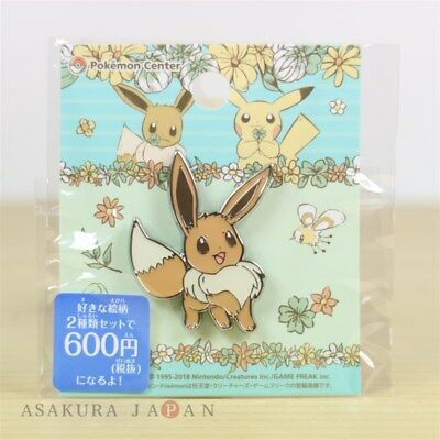 "Pokemon Center Original 7days story Pin badge "" Day 1 "" Eevee Pins From Japan"