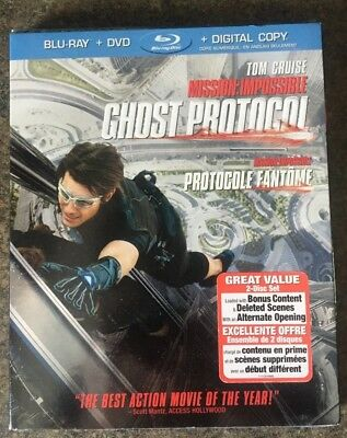 ** Mission: Impossible - Ghost Protocol, Blu-ray/DVD, brand new, factory sealed!