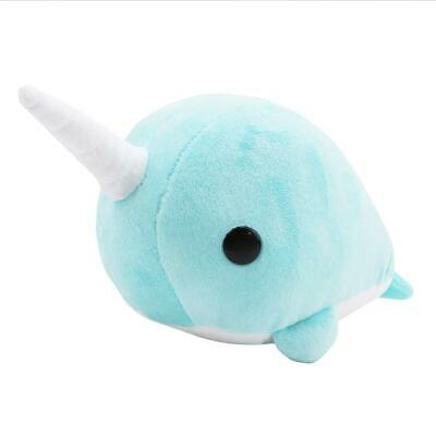 New Narwhal Unicorn Whale Plush Doll Stuffed Animal Toy Kids Gift -Y