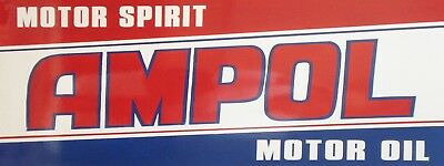 AMPOL STICKER  -  Man Cave Work Shop Garage Shed Bar Whisky esky/window