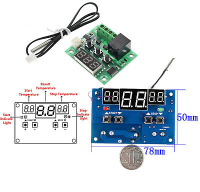 W1209/W1401 DC 12V Red LED Digital Thermostat Temperature Controller -9-110°C FR