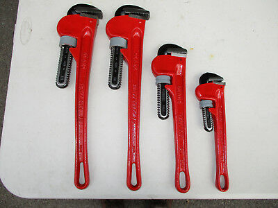 Sears 18, 18, 14, 10 Pipe Wrenches total of (4)